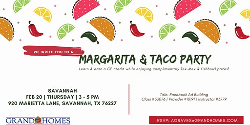 Margarita & Taco Party at Savannah