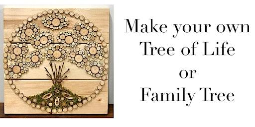 Wood slice. 'Tree of Life ' workshop