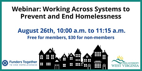 Webinar: Working Across Systems to Prevent and End Homelessness tickets