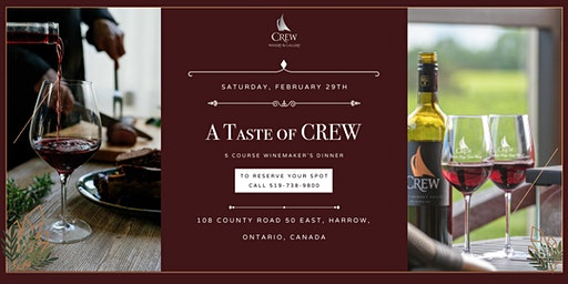 A Taste of CREW - 2020 Winemaker's Dinner