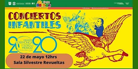 Conciertos Infantiles con la Orquesta Filarmónica de la Cd de México boletos