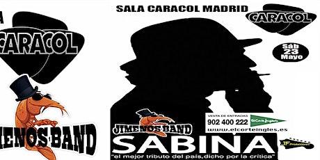 El mejor Tributo a Sabina dicho por la Critica JIMENOS BAND en MADRID entradas