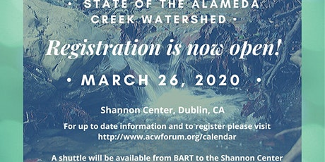 State of the Alameda Creek Watershed 2020 tickets