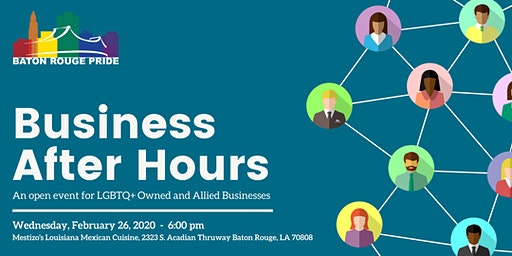Business After Hours: An open event for LGBTQ+ Owned and Allied Businesses