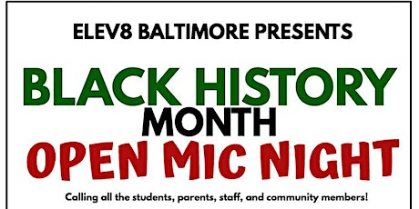 Elev8 Baltimore Open Mic Night tickets