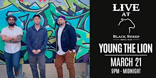 Live Music : Young The Lion March 21st @ 9pm