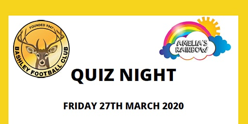 Charity Quiz Night for Amelia's Rainbow