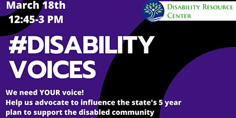 Disability Voices - Public Input Meeting on Disability in MA tickets