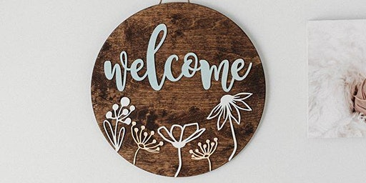 March 13: Hello Door Sign
