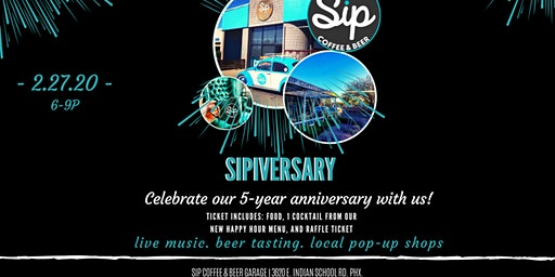 SIPversary! 5 Year Anniversary Party!