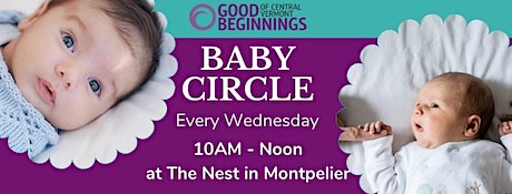 Onsite Childcare for Wednesday Baby Circle tickets