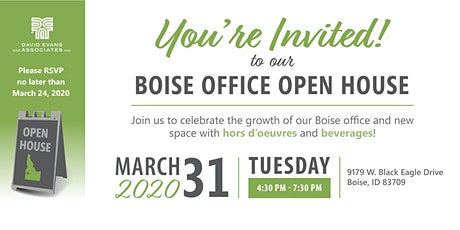 David Evans and Associates Boise, ID Open House tickets