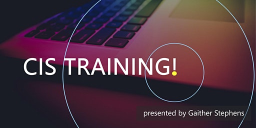 May 2020 CIS Training