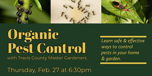 Organic Pest Control with Travis County Master Gardeners
