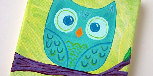 Kid's Owl Painting Class