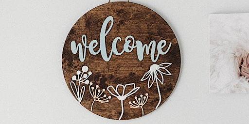 March 7: Hello Door Sign