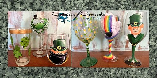St. Patrick's Day Glasses Paint Night