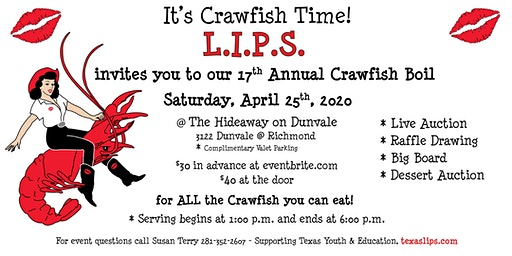 LIPS 17th Annual Crawfish Boil