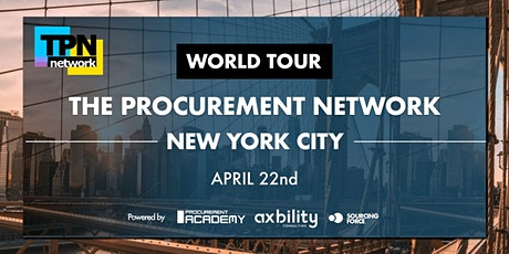 TPN Procurement Network in New York City - World Tour 2020 tickets