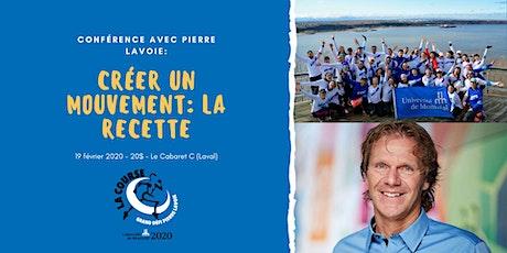 Pierre Lavoie : Créer un mouvement pour l'équipe UdeM GDPL 2020 billets