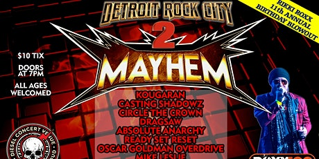 Detroit Rock City Mayhem 2 billets