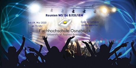 Reunion Wiso-Erstsemester WS '04 B/EB/IBM Tickets