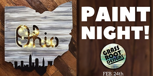 Rustic Ohio {Light Up} Paint Night!