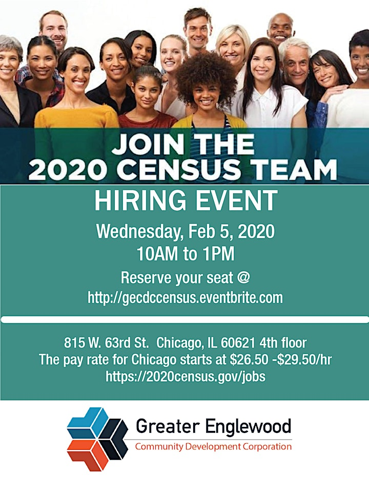 HIRING EVENT Join the 2020 CENSUS TEAM image