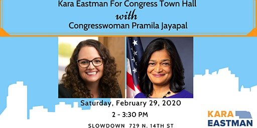 Eastman For Congress Town Hall with Rep. Pramila Jayapal!