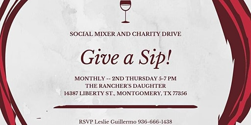 Give a Sip! Social Mixer and Charity Drive
