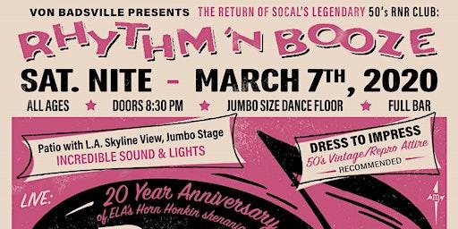 Rhythm 'N Booze with Los Rhythm Rockets and Crown City Bombers