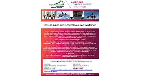 JVSG Civilian and Federal Resume Workshop