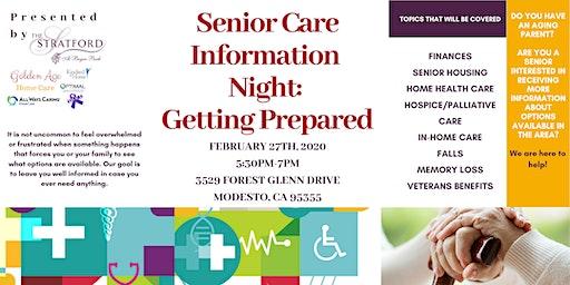 Senior Care Information Night: Getting Prepared