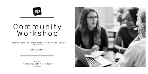 EP Community Workshop - Dunedin