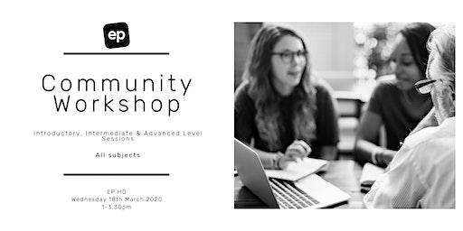 EP Community Workshop - Dunedin