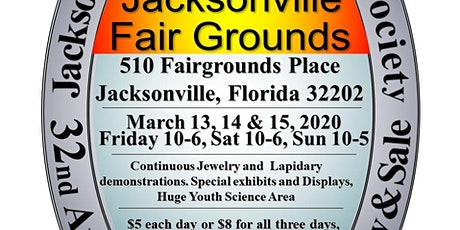 32nd Annual Jacksonville Gem & Mineral Society Show tickets