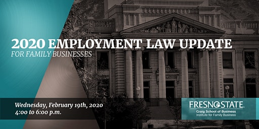 2020 Employment Law Update for Family Business