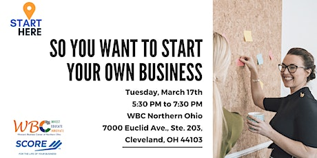 Star Here: So you want to start your own business tickets