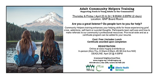 Adult Community Helpers Training