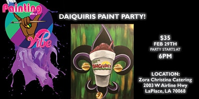 Painting With A Vibe- 32oz Fleur De Lis