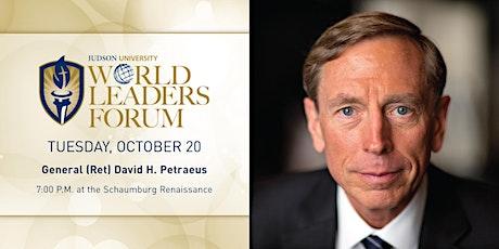 2020 World Leaders Forum presents General Petraeus tickets