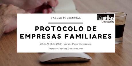 Taller: Protocolo de empresas familiares boletos