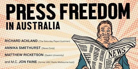 Talking Justice: Press freedom in Australia tickets