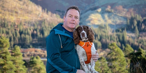KERRY IRVING AND MAX THE MIRACLE DOG