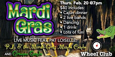 Mardi Gras Dinner & Music Soirée w/Pat Loiselle & the Mardi Gras MamboCombo tickets