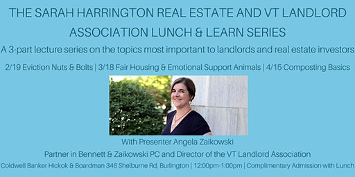 Sarah Harrington RE and VT Landlord Association Lunch and Learn Series