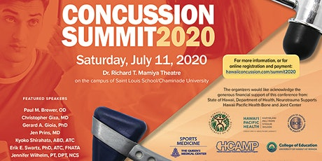 Hawaii Concussion Summit 2020-Health Care Providers Early Reg (LIVE STREAM) tickets
