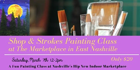 Shop and Strokes Painting Class: Wandering Moon tickets
