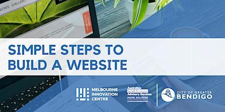 Simple Steps to Build a Website - Greater Bendigo  tickets