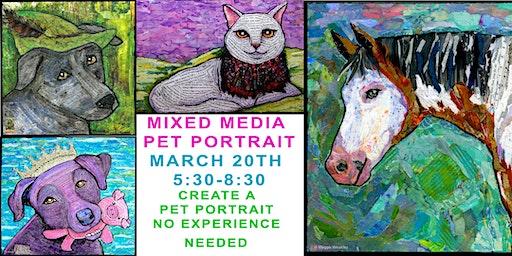 Pet Portraits Mixed Media Class